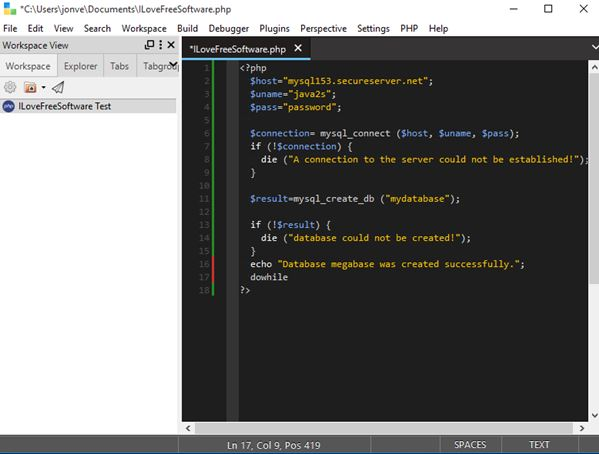 php editor software windows 10 1