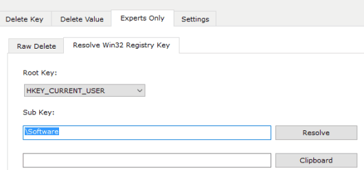 resolve Win32 Registry key