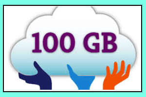 services that offers 100 GB free backup