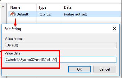 set Value data and press OK