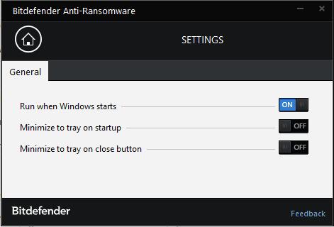 settings options