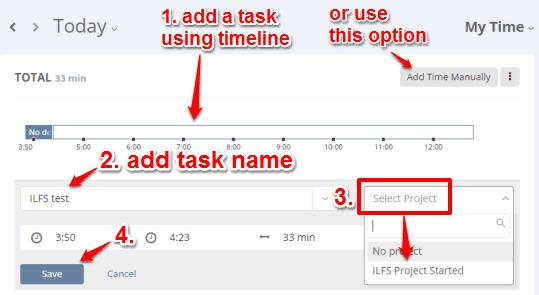 start a new task using Tracker