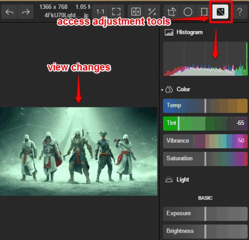 use adjustment tools