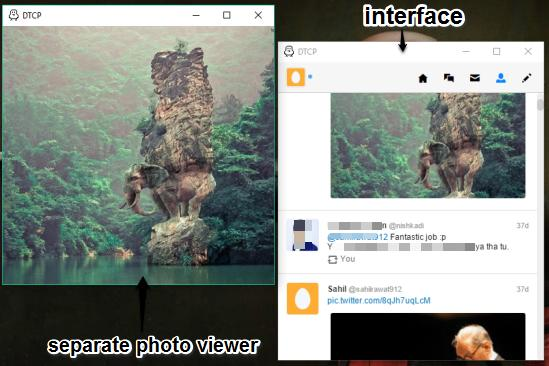 DTCP- interface and separate photo viewer