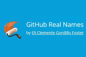 GitHub Real Names