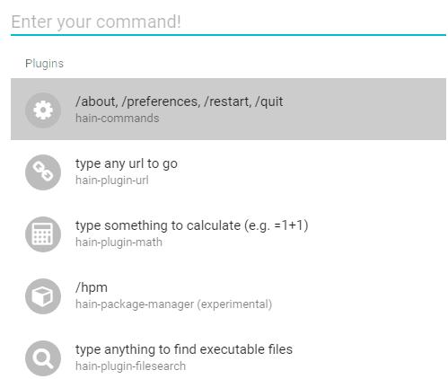 Hain- interface