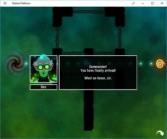 Radiant Defense game intro