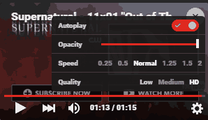Sideplayer- Options