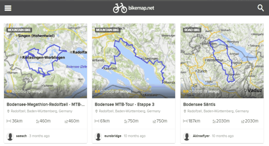 bike routes and maps