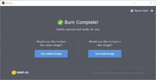 burn complete
