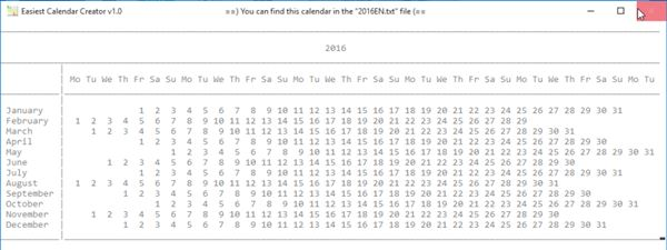 calendar creator software windows 10 4