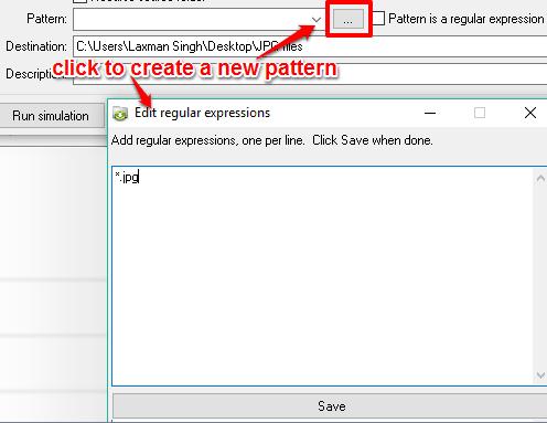 create a new pattern