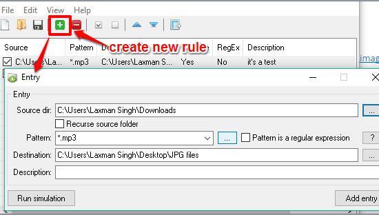 create a new rule