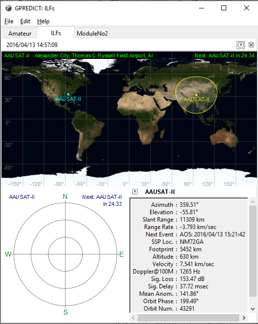 create modules and track satellite