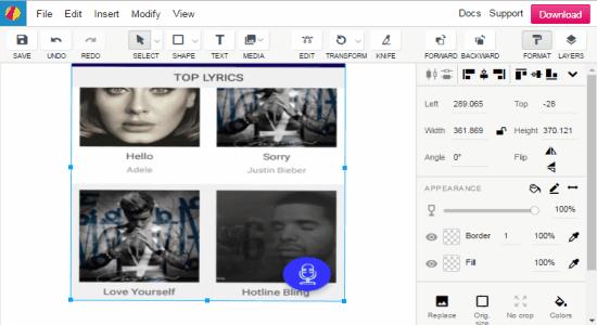 create social media graphics