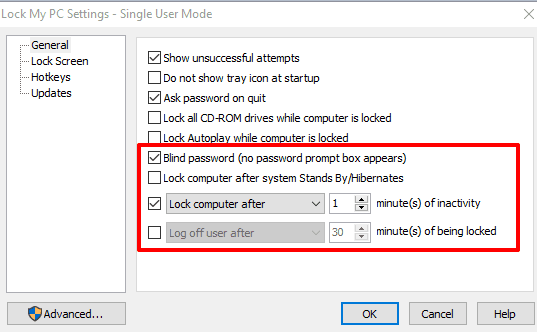 customize general section settings