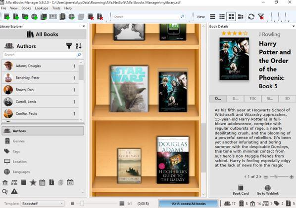 ebook organizer software windows 10 2