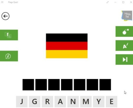 flags quiz game board