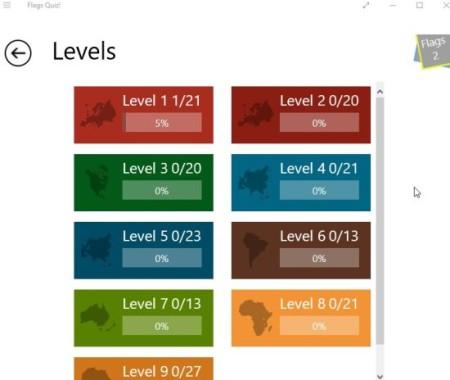 flags quiz levels