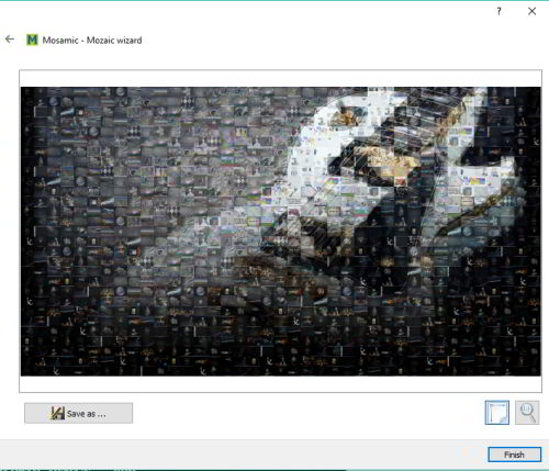 generate mosaic using Flickr photos