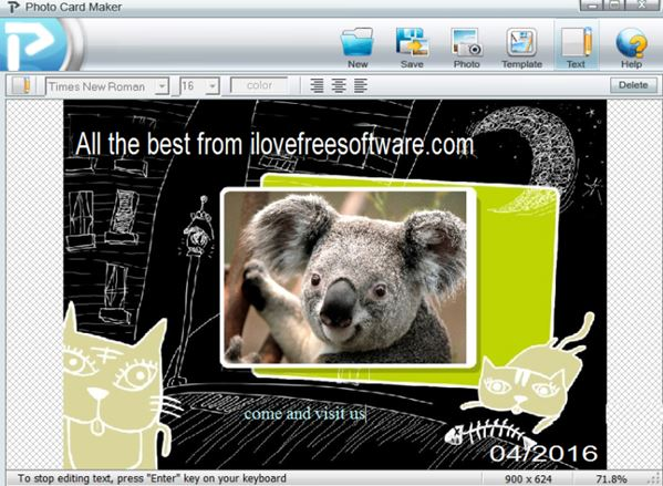 free greeting card software for windows 8