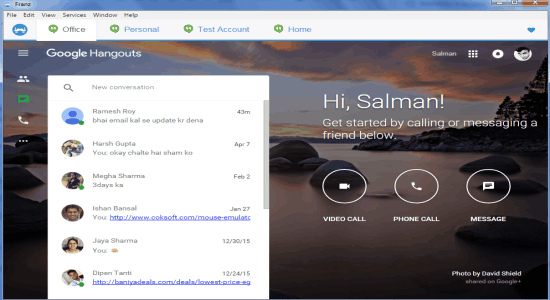 How To Access Multiple Google Hangouts Accounts In One Window