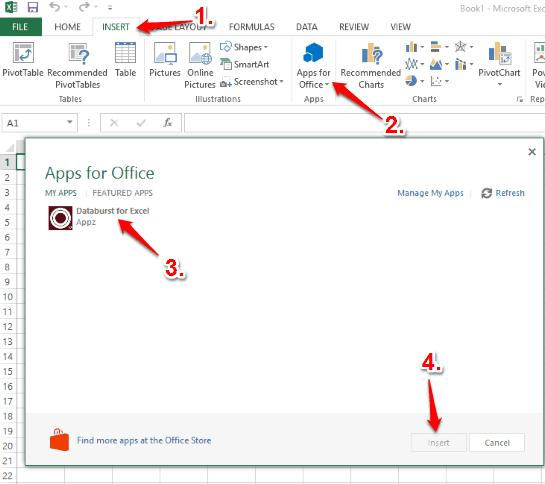insert the add-in