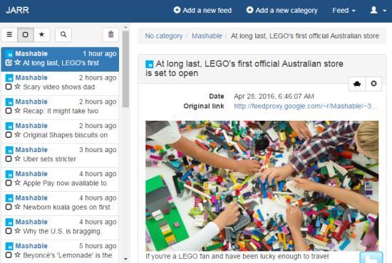 free RSS feed aggregator