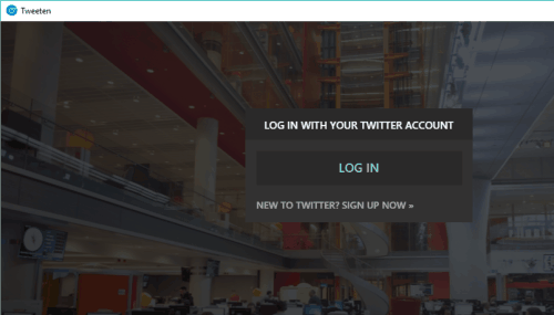 login to your Twitter account