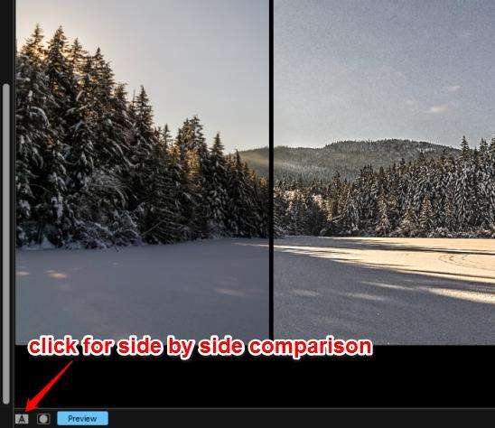original and output photo comparison