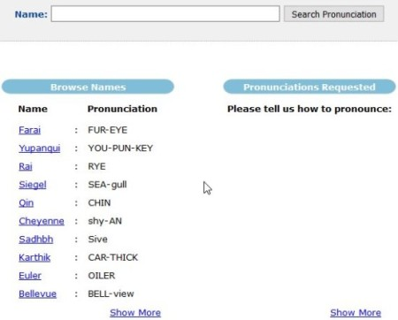pronounce names main windows