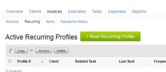 recurring profile