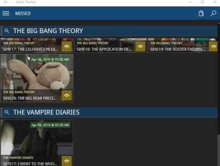 series tracker missed episodes