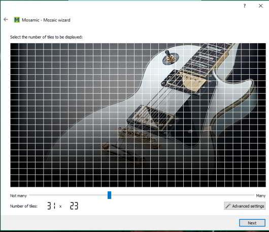 set number of tiles