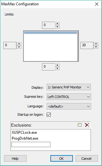 set the configuration