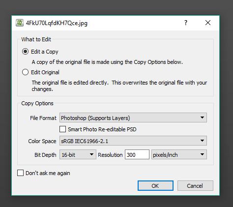 set the output settings