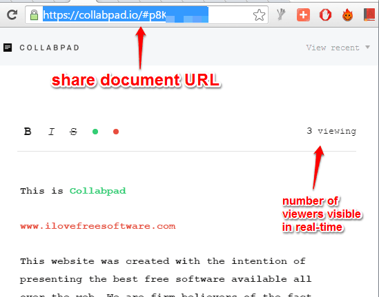 share document with others