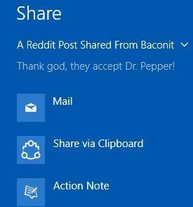 share via clipboard share option