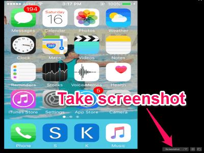 take screenshot in full screen