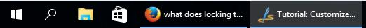 taskbar full buttons