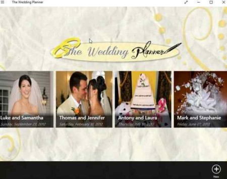 the wedding planner home
