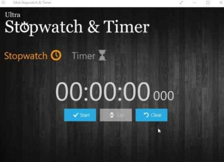 ultra stopwatch and timer home