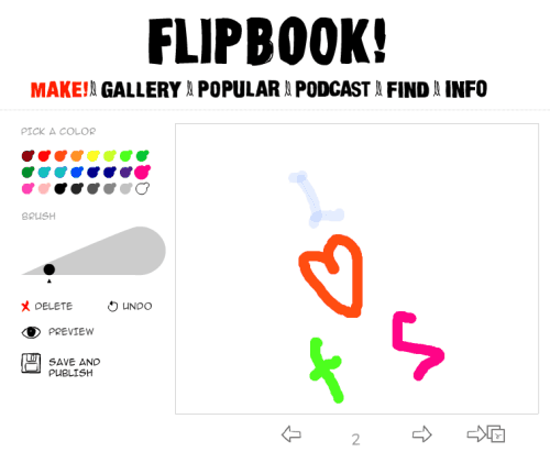 Flipbook! website