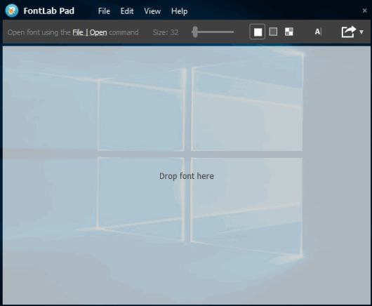 FontLab Pad- interface