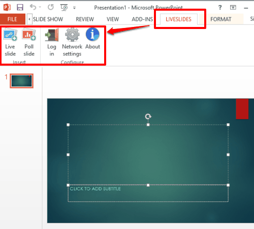 add-in tab and options