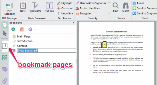 bookmark pages