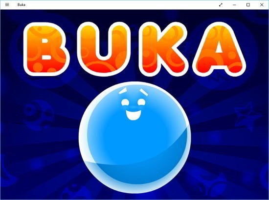 buka main screen