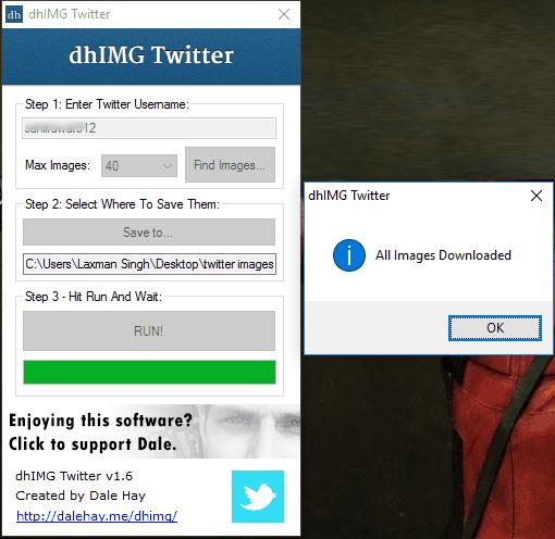 Free Twitter Image Downloader Software for Windows 10
