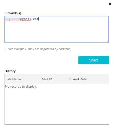 email share basefolder