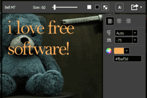 free font viewer software with transparent background